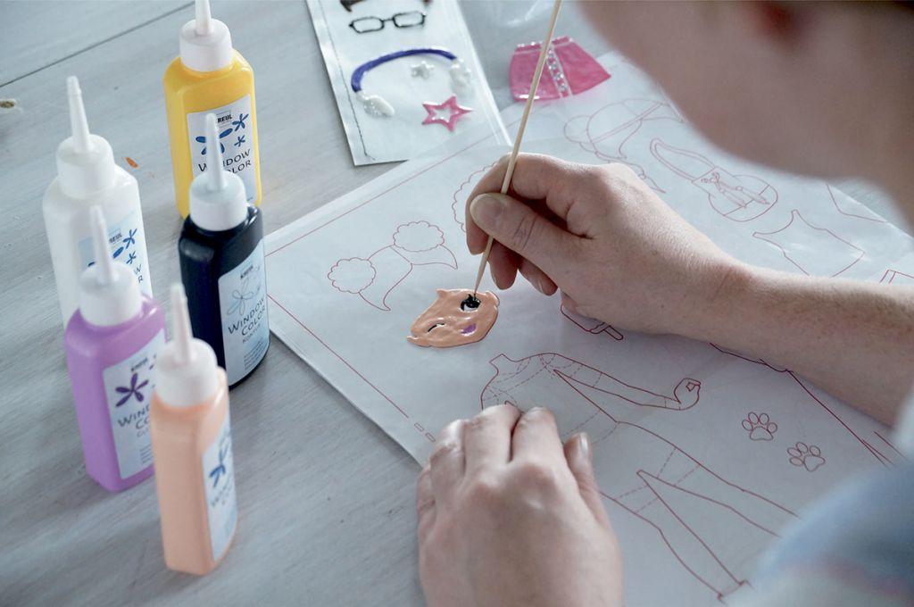Sada Barva na sklo Módní návrhářka