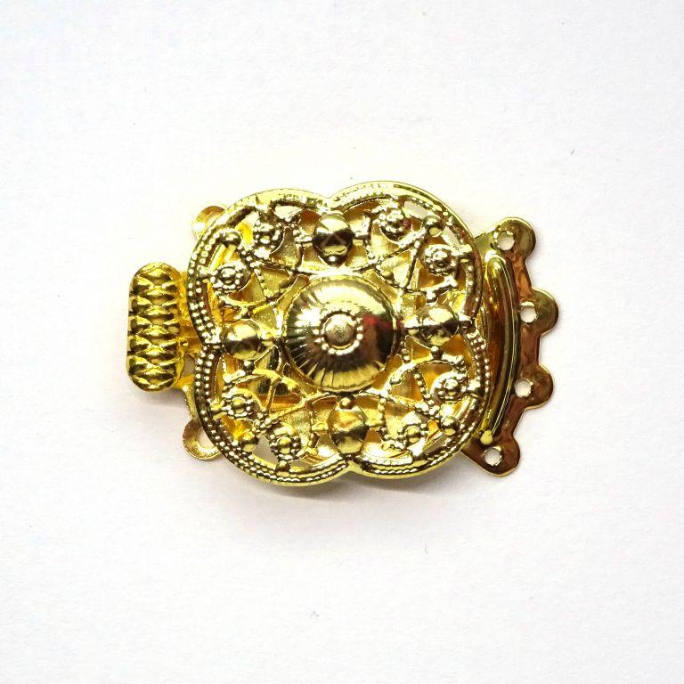 Zapínání filigránové zdobené zlaté