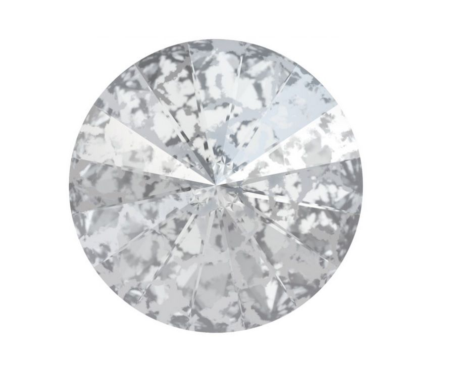 Swarovski Rivoli Silver patina 10 mm