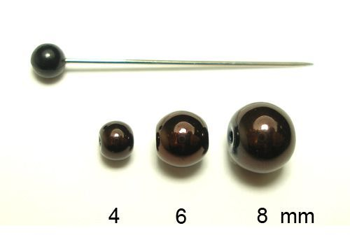kulička hnědá 8 mm