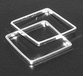 Čtverec nedělený 15 mm postříbřený