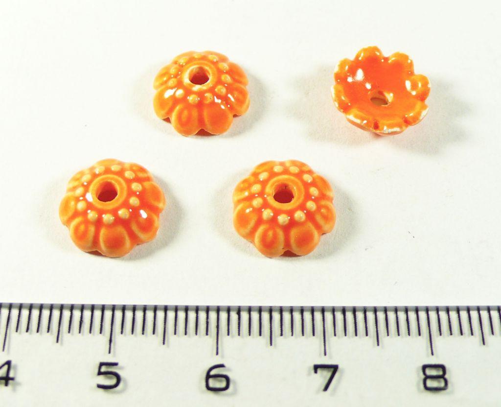 Kaplík porcelánový oranžový