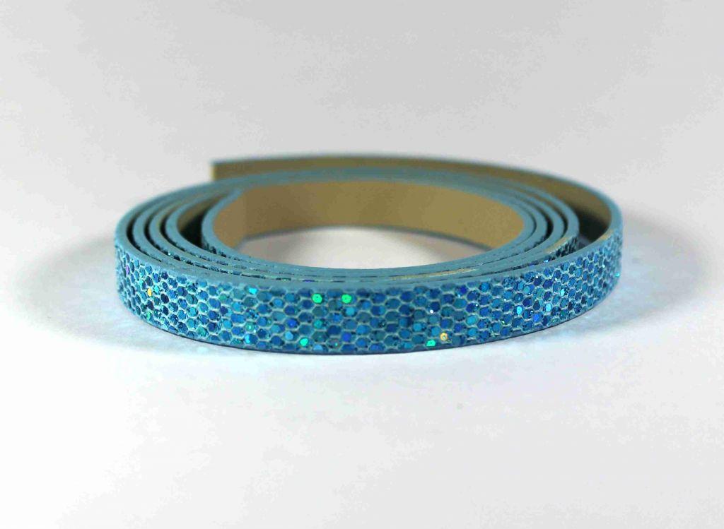 INFINITY pásek s flitry modrý
