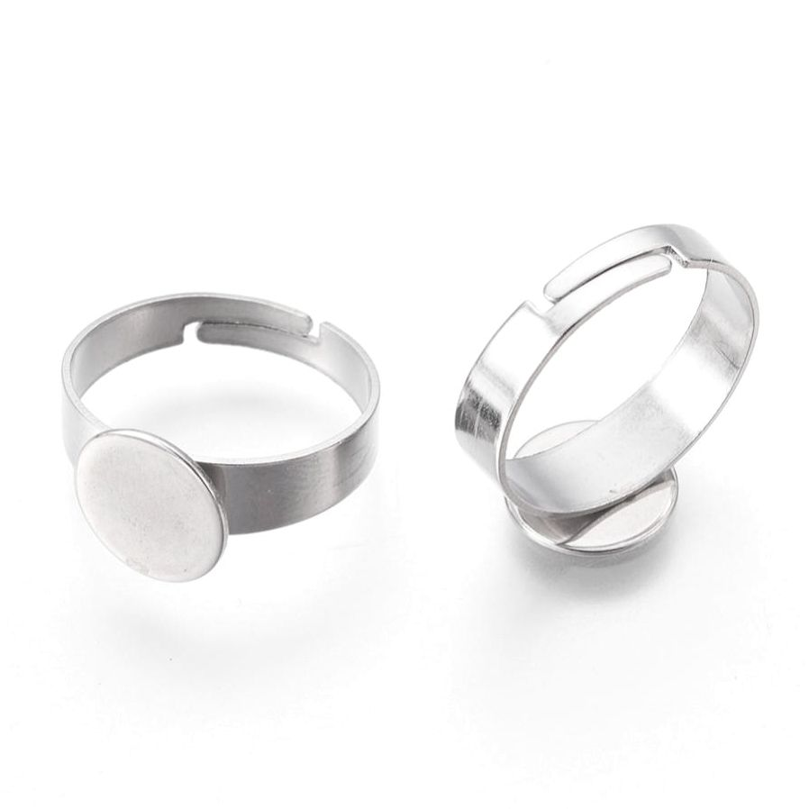 Prsten s lůžkem 10mm nerez ocel