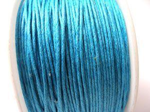 Voskovaná šňůra 1 mm tyrkysově modrá