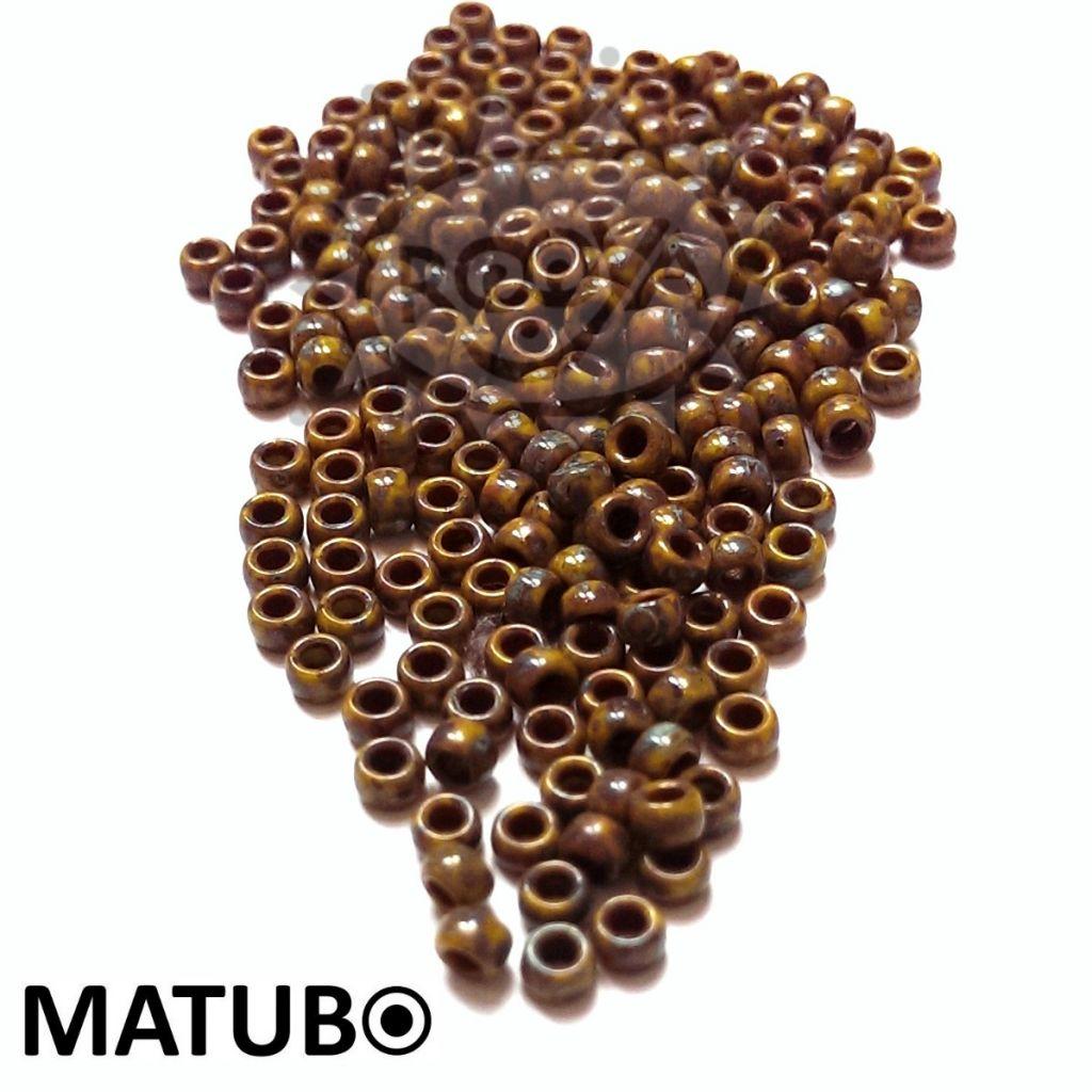 Matubo 7/0 zelená travertin silný