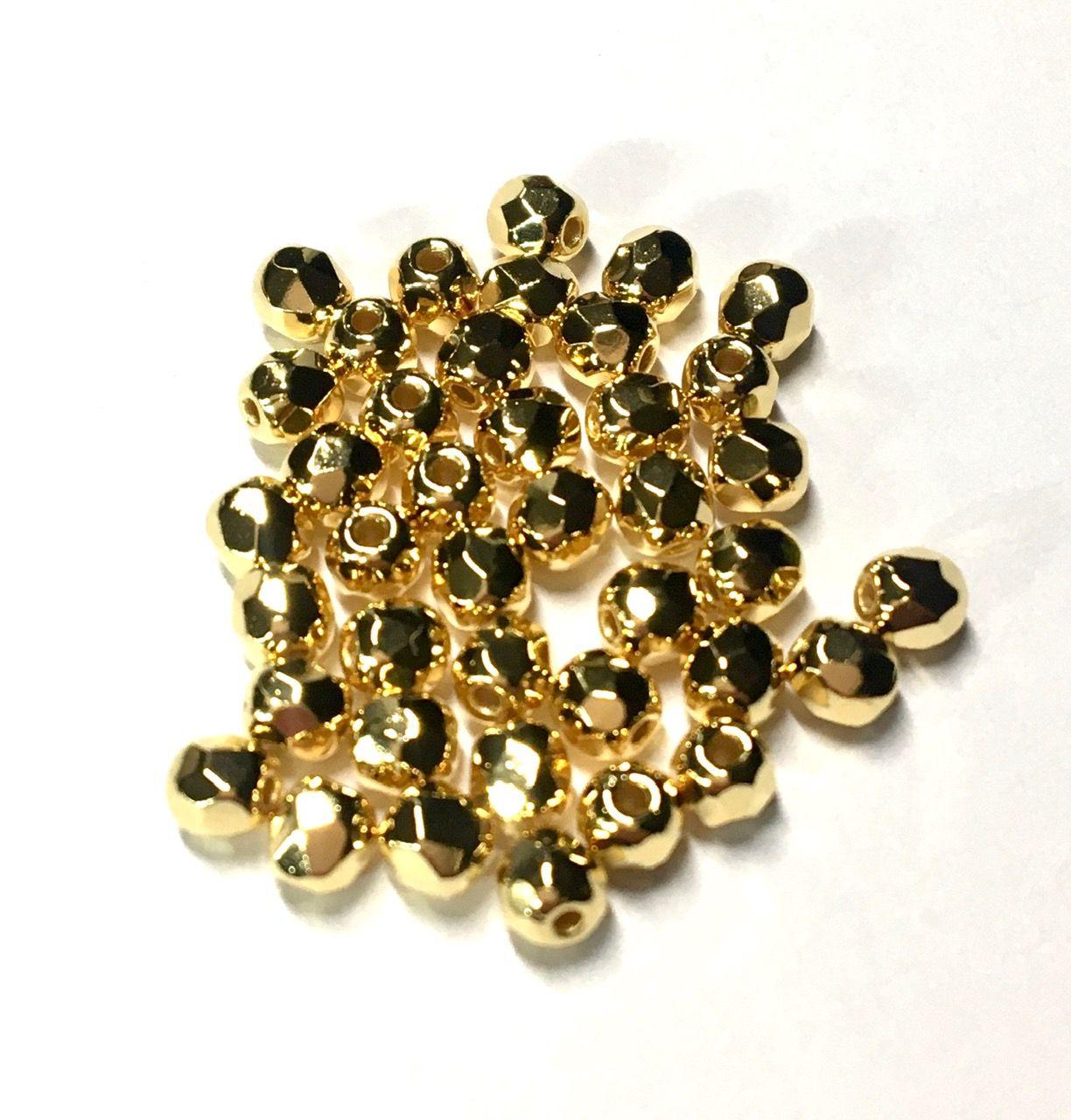 Ohňovky 3 mm zlato 24K