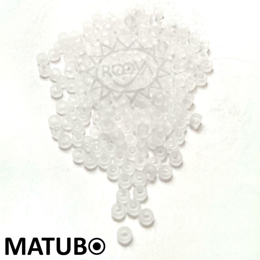 Matubo 7/0 křišťál mat
