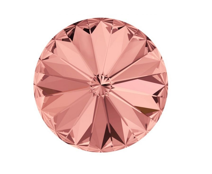 Swarovski Rivoli Blush rose 14 mm