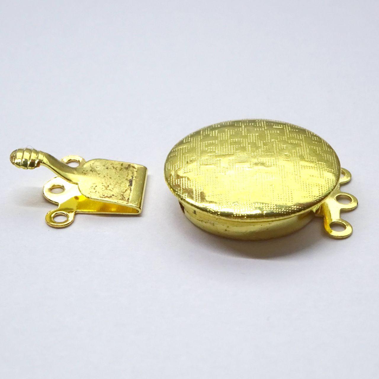 Zapínání filigránové ploché zlaté