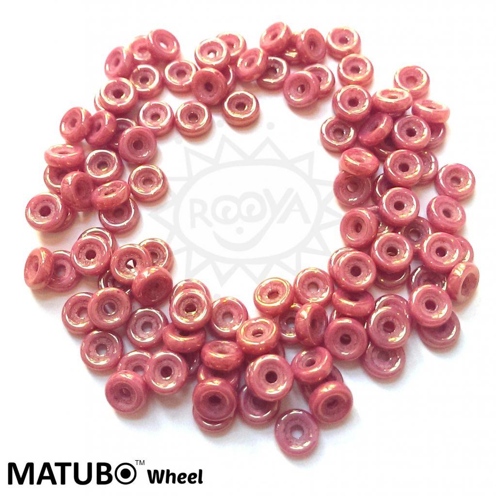 Wheel 6 mm křída červený listr