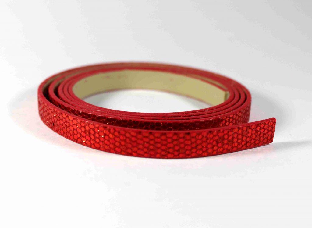 INFINITY pásek s flitry červený