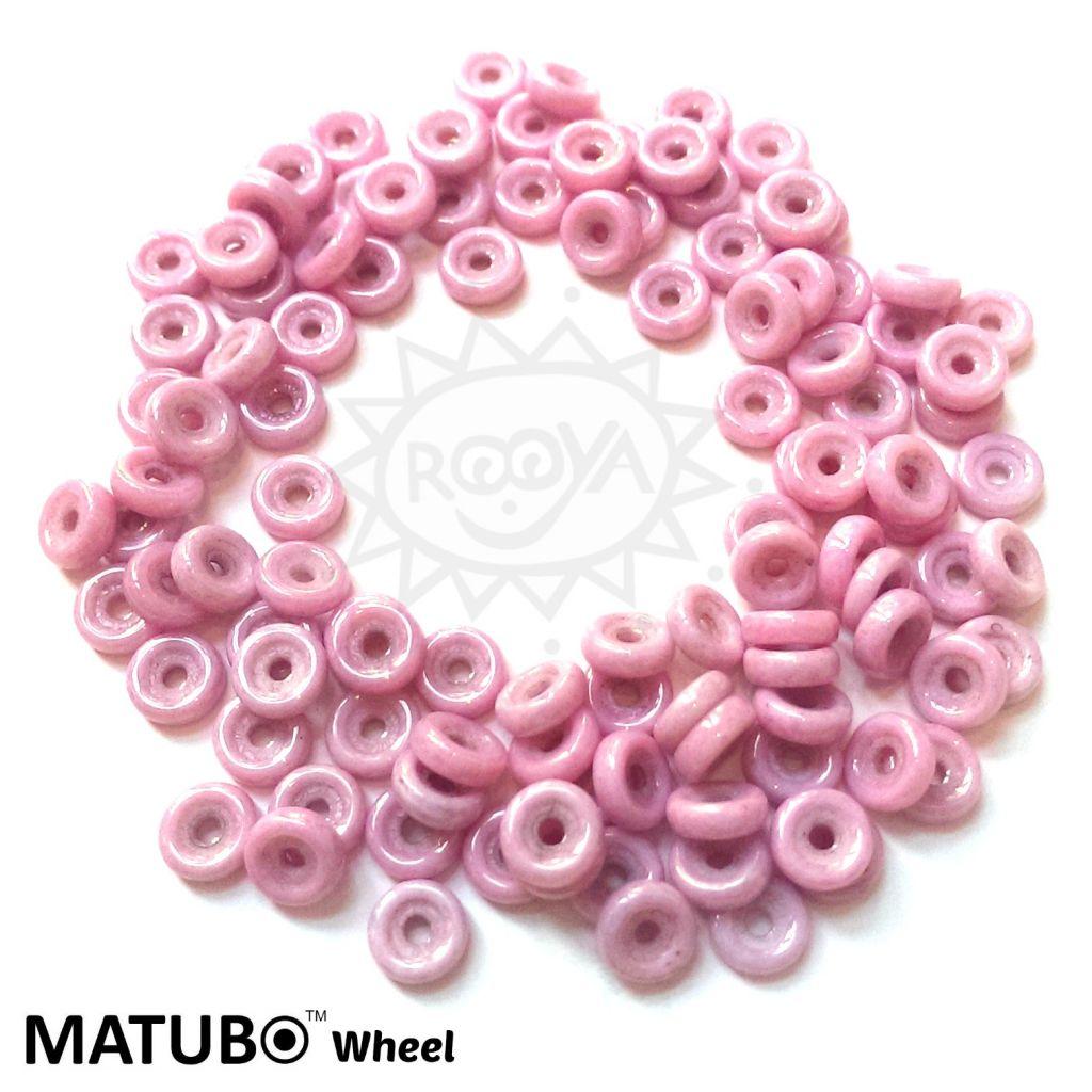 Wheel 6 mm křída lila listr