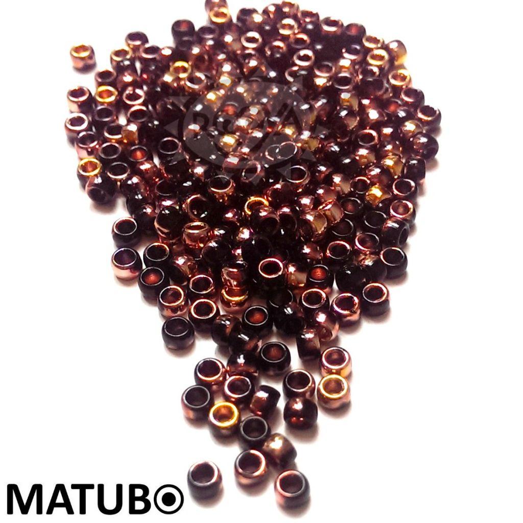 Matubo 7/0 jet gold capri