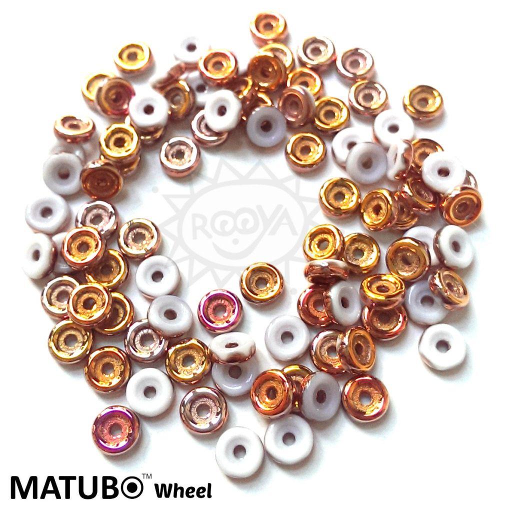 Wheel 6 mm křída gold capri