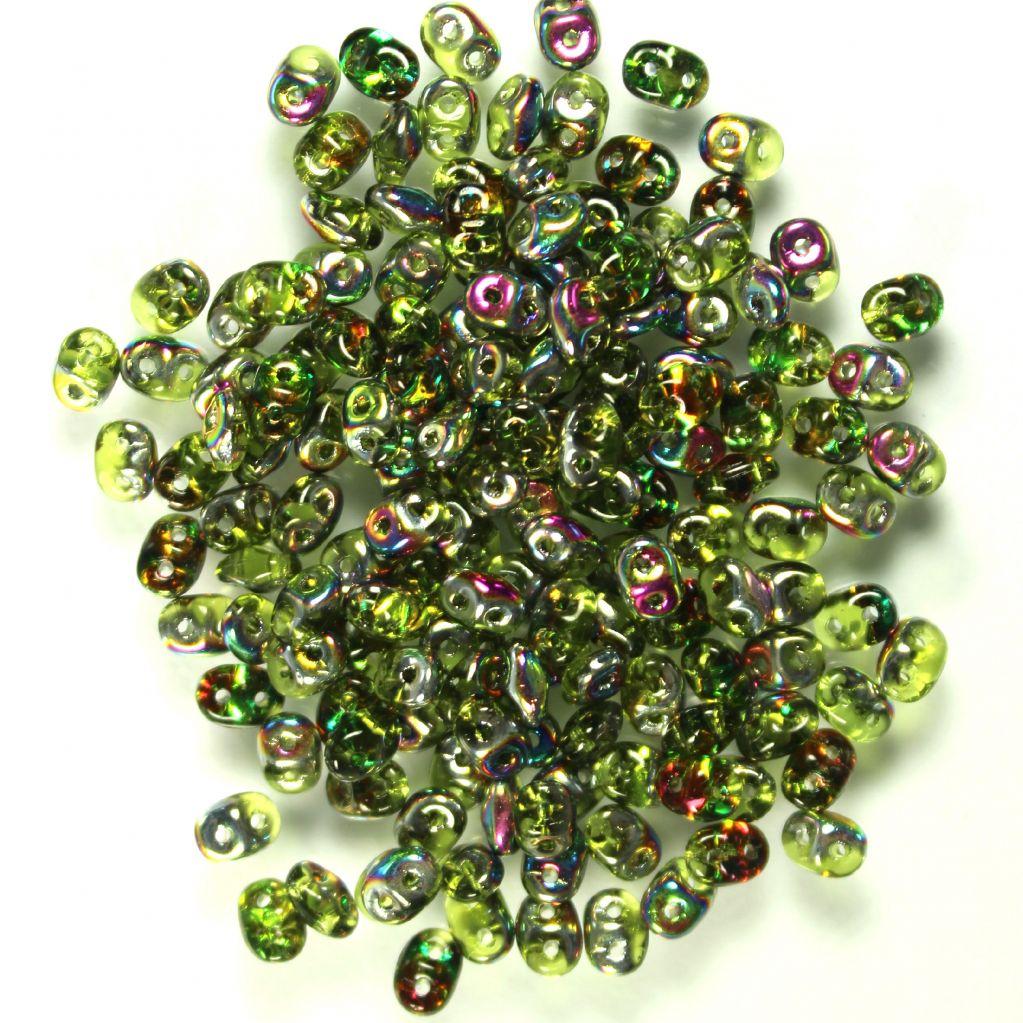 Superduo olivín vitrail