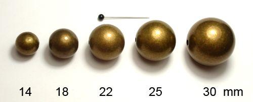 Kulička 25 starozlato