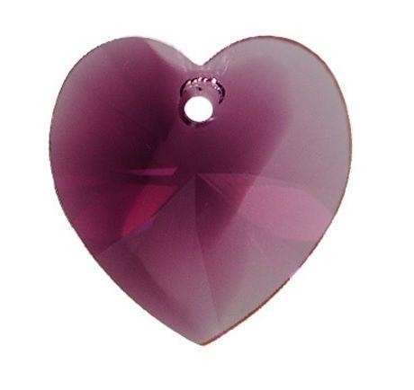 Swarovski Srdce 14 Amethyst blend