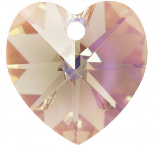 Swarovski Srdce 14 Black diamond