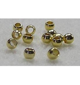 Zamačkávací rokajl, zlatá, 1,5 mm