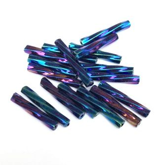 Trubičky kroucené 15 mm modrý iris