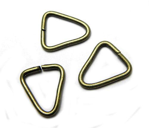 Spoj. trojúhelník, starozlato 14 mm