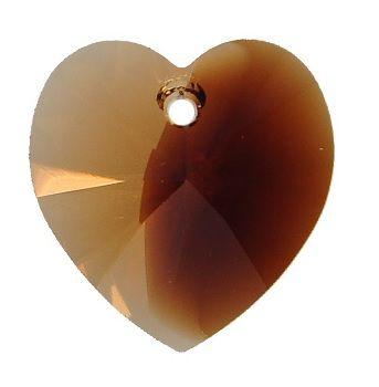 Swarovski Srdce 14 Topaz blend