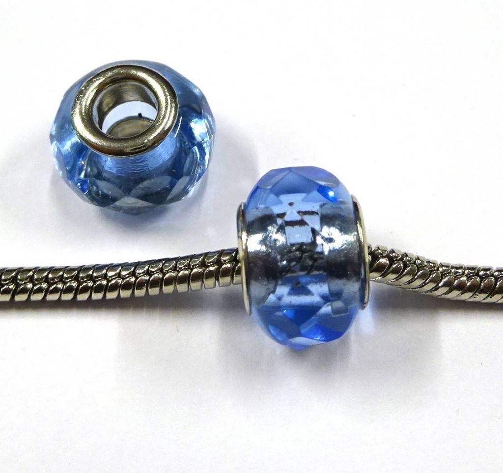 Velkodírové korálky modré