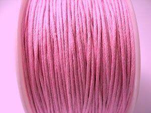 Voskovaná šňůra 1 mm růžová
