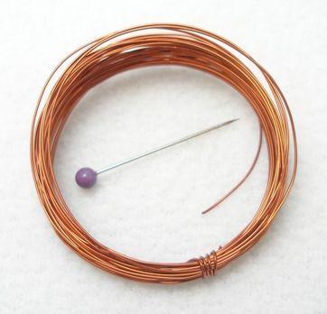 Měděný drát hnědý 0,40 mm