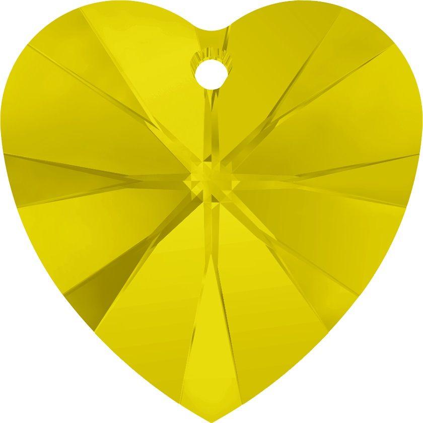 Swarovski Srdce 10 Yellow Opal
