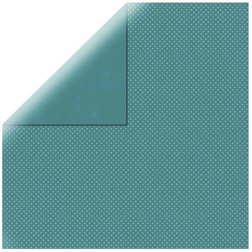 SP Double Dot, tm. tyrkysový, 30,5x30,5cm, 190g/m2