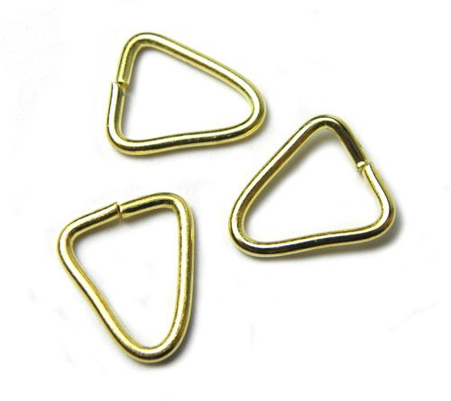 Spoj. trojúhelník, zlatý 14 mm