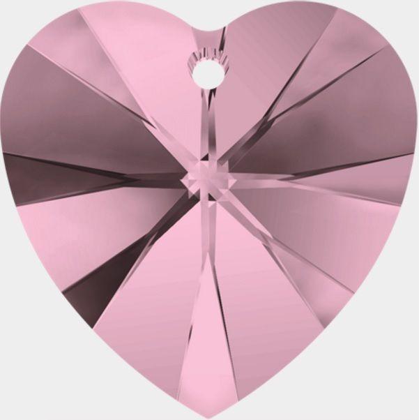 Swarovski Srdce 14 Cr. Antique pink