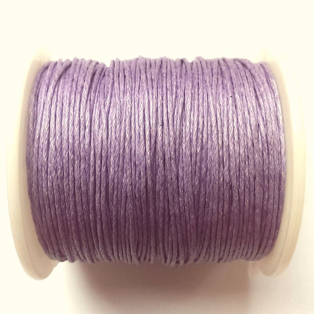 Voskovaná šňůra 1 mm fialová
