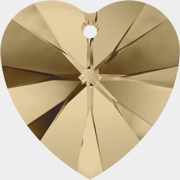 Swarovski Srdce 14 Crystal Golden sh