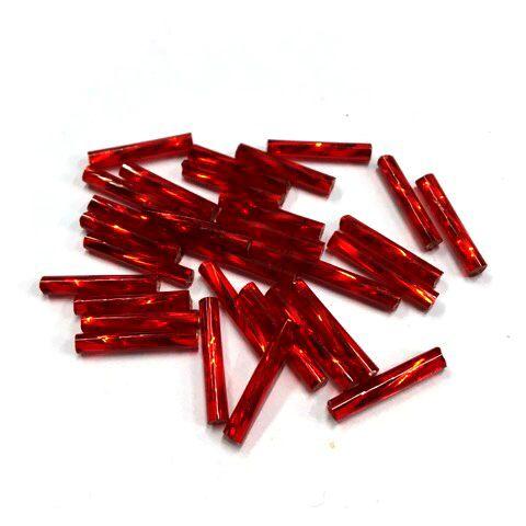 Trubičky kroucené 30 mm tm. červené