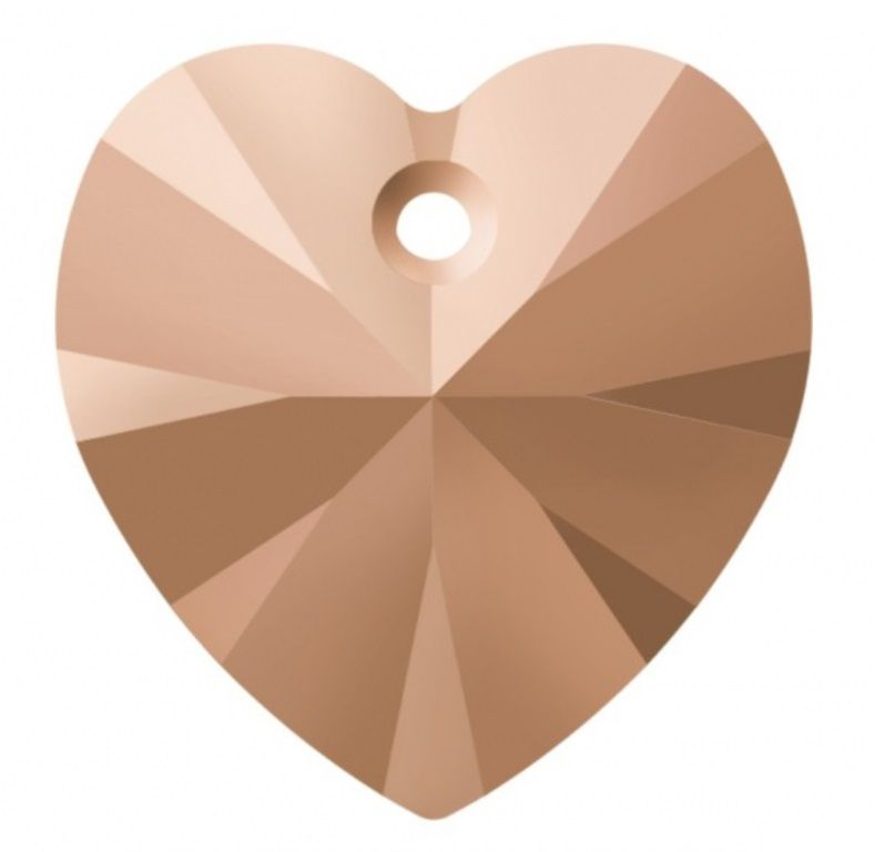 Swarovski Srdce 14 Cr. Rosegold