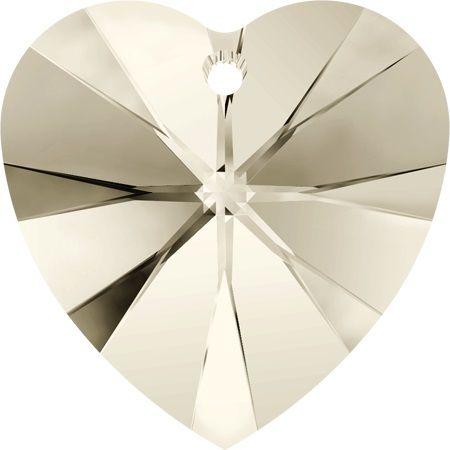 Swarovski Srdce 10 Cr. Silver shade