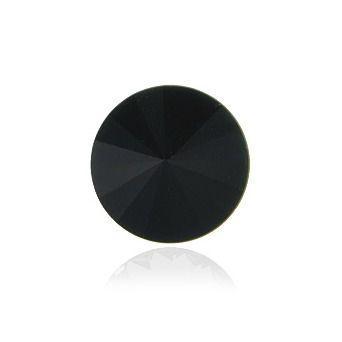 Swarovski® Rivoli jet hematit 10 mm