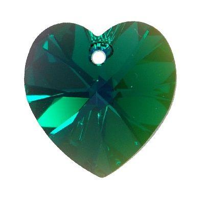 Swarovski Srdce 14 Emerald AB