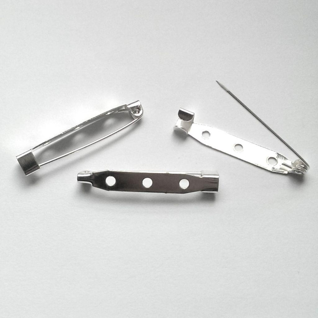 Špendlík na brož platinový 35 mm