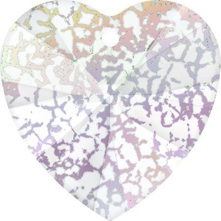 Swarovski Srdce 14 White patina