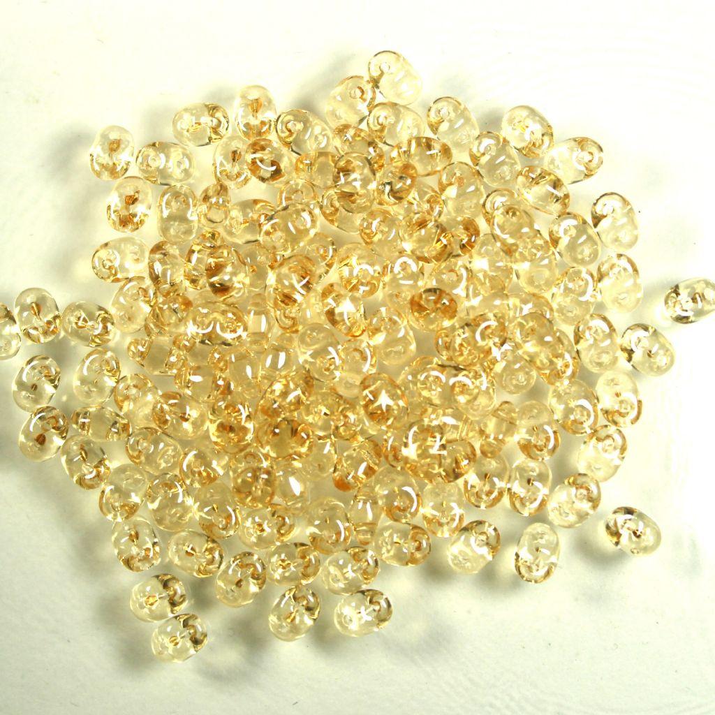 Superduo krystal oranžový listr