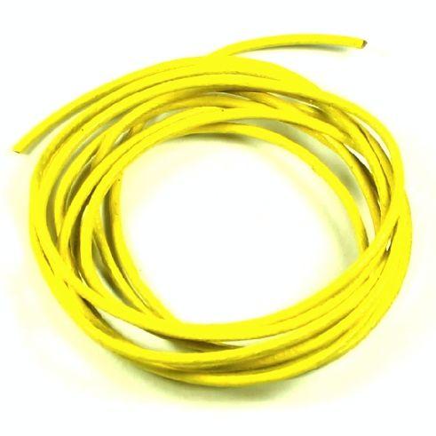 Kůže kulatá 1 mm světle žlutá