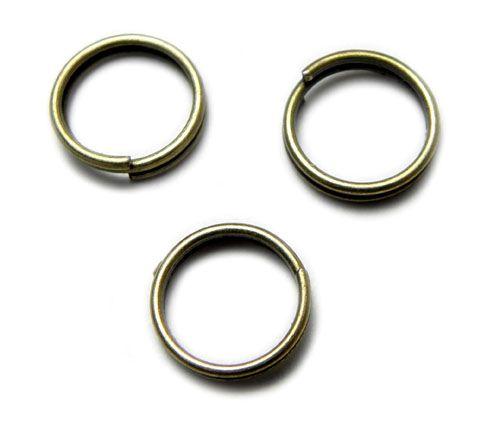 Dvojitý kroužek, starozlato, 8 mm