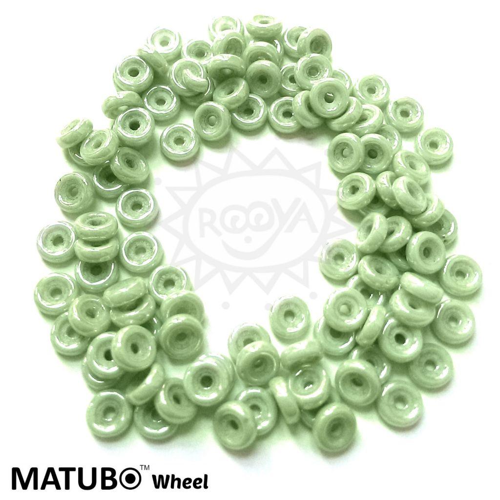 Wheel 6 mm křída zelený listr