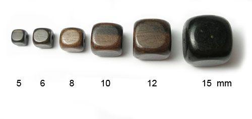 Exotické dřevo EBEN kostička 10mm