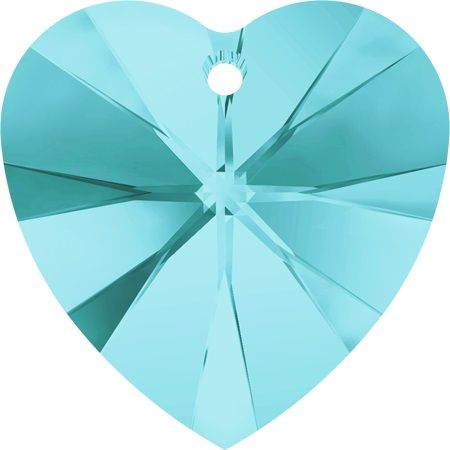 Swarovski Srdce 14 Light turquoise