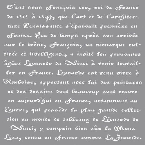 Šablona - franc.písmo, 30,5x30,5cm